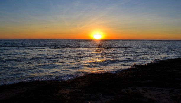Sunset at Agate Beach near Bolinas, California by ChaosWolfPictures