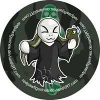 Voldemort Chibi Badge by RedPawDesigns