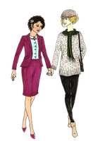 Godiva Norton And Irene Adler- transparent by MommaCabbit