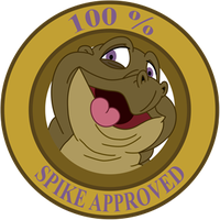 Spike Approved Sticker by RockingScorpion