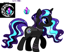 Cresent Crystal Moon Custom Pony by YukiAdoptablesPonies