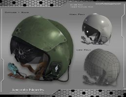 Fighter Jet Helmet by Jacob-3D