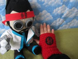 City of Villain fingerless gloves by Rei2jewels