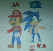 Mario And Sonic by MollyKetty