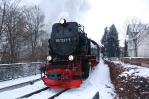 Snow and Steam by ZCochrane