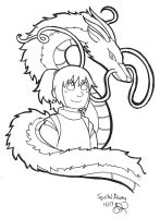 Chihiro and Haku - Spirited Away by batteryfish