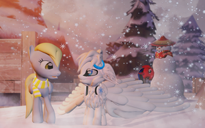 Snowflake meets Derpy (Updated) by ALMarkAZ