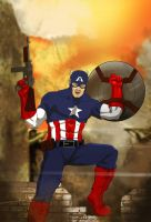 Captain America by Gabzx18x