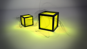 Glow Cubes I by error-23