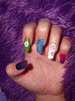 Monsters Inc. Inspired Nails (View 1) by HarleyTheSirenxoxo