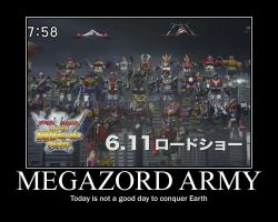 Megazord Army by maybetoby