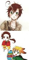 Hetalia chibis by TiaSunflower