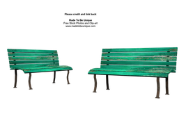 front of green benches stock by madetobeunique