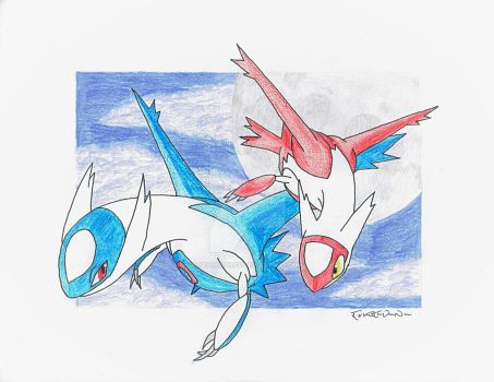 Latios  Latias by setherpiece