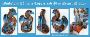Copper and Blue Windstone Editions Keeper Dragon by Eviecats