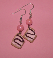 strawberry pop tarts earrings by PookieTookieJewelry
