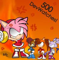 500 DEV WATCHES-THANKs by Redztheartist