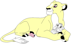 Yin + cub, you can color in the cub,needs a mate by TwilightLuv10