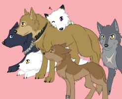 The Wolf's Rain Gang and Meru by Kintanga