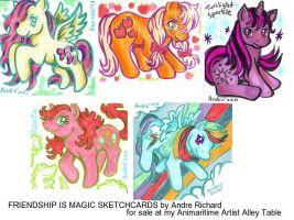 My Little Pony Sketchcards by AndrePaploo