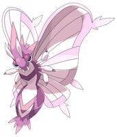 Mega Venomoth by Smiley-Fakemon
