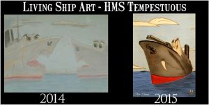 Living Ship Art Style Comparison - II by RMS-OLYMPIC