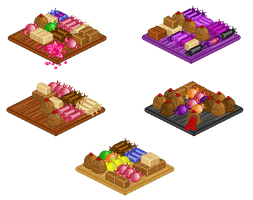 Pixel candy platters by iCandiie