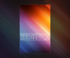 GlassClock Skin for mClock by chrisbanks2