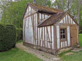 Chantilly hamlet -Thatched cottage by April-Mo