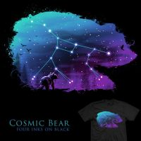 Cosmic Bear - tee by InfinityWave