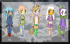 Open Adoptables 2 by Sarcophagidae