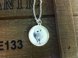 Fancy Owl Necklace by InkyDreamz