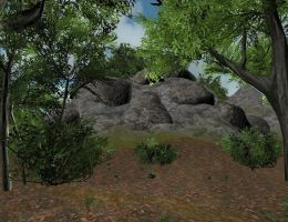 Cliff 3D by Tomoffell