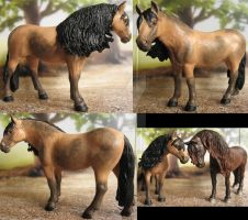 Repaint and cust Schleich Andalusian mare 2 by Schleichgirl1976