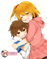 Momo and Hibiya Render by ChibiKiiro