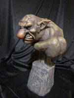 Troll bust finished 3 by Blairsculpture