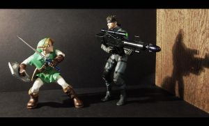 Link Vs Snake's Big Gun by AnimatorAR