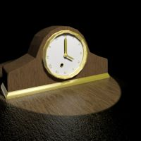 Mantle Wooden Clock 3ds Max by Guardian-of-Azarath