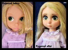 ooak animators rapunzel doll from tangled. by verirrtesIrrlicht