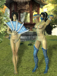 Kitana Undressed Pack 1 - Mortal Kombat 9 by romero1718
