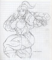 Sketch Claire Redfield by MATL