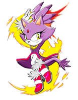 Blaze The Cat by iceykitty27