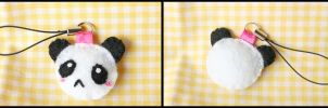 Tiny Panda Plush Keychain by HezaChan