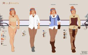 Mia - Clothing Breakdown by leighanief