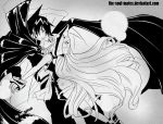 Ren and Jeanne Black and White by tenchufreak
