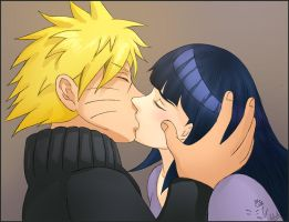 Naruhina kiss colored by davonne
