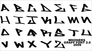 .:Graff Font 2.0:. by whoners