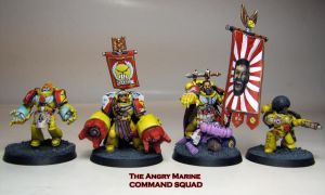 Angry Marines Command Squad by MrCha0s
