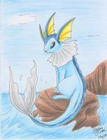 Vaporeon--Showers by FENNEKlNS