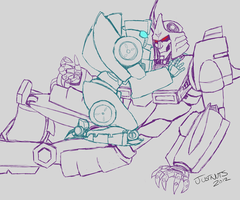 Tailgate and Cyclonus by just-nuts